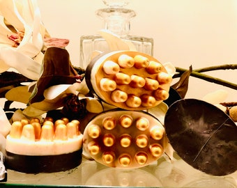 Sandalwood, Leather Amber Fragranced Body Bath Bar|Goat Milk Body Bath Bar|Massage Soap Bar|Handcrafted Soap|Bath Bar Soap