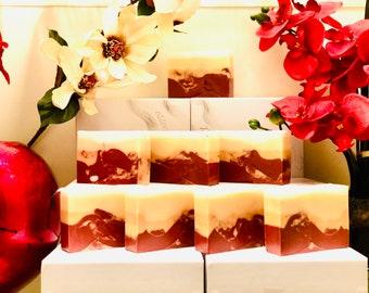 Happiness Bath Bar Soap|Patchouli, Cedarwood, Bergamot, Lavender & Bergamot|Goats Milk|Artesian Soap