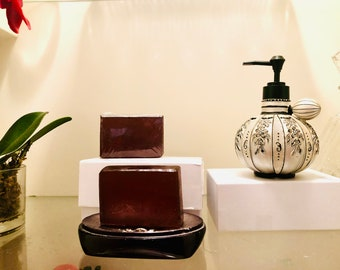 Raw African Black Soap|Pure Organic Unrefined Natural Soap From Ghana|Unscented|For Acne, Eczema, Sensitive and Problematic Skin|