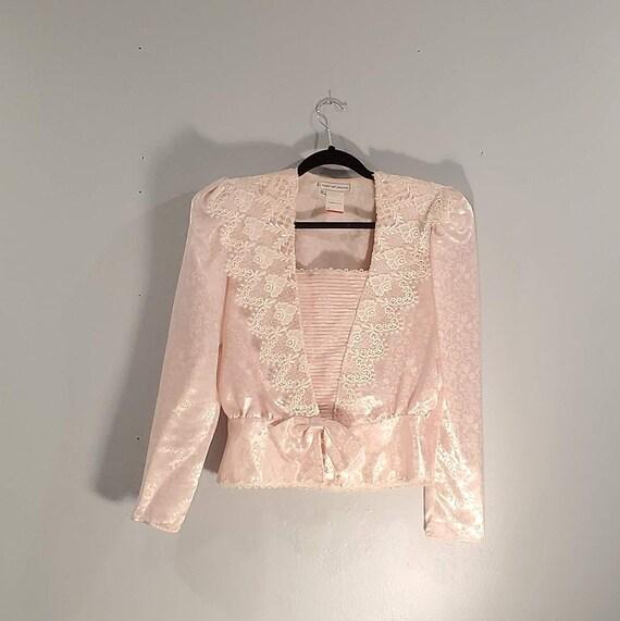 Scott McClintock Pink Floral Lace Guipure Jacket e