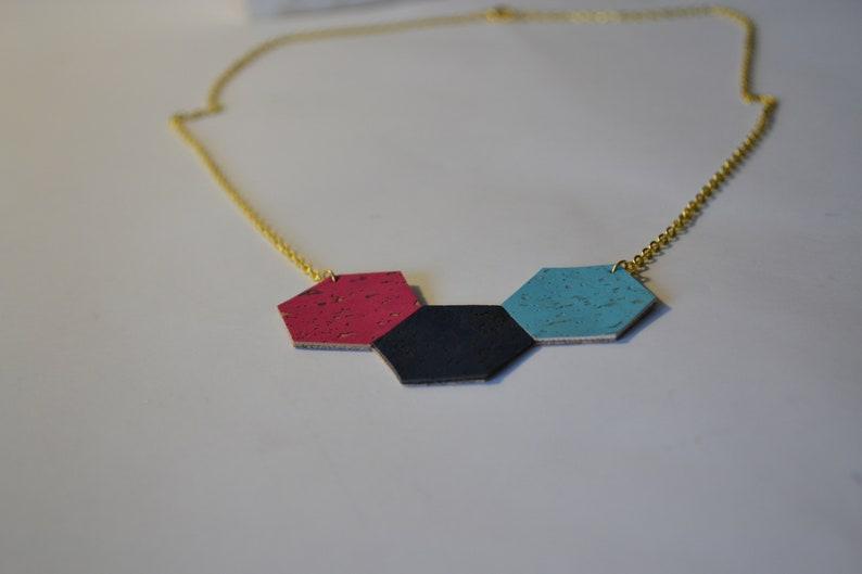 Hexagonal Multicolored Hive Collar