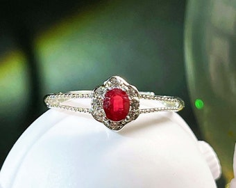 Details about  /Victorian Slice Diamond Ruby Gems Dainty Stackable Ring Gift For Woman Jewelry