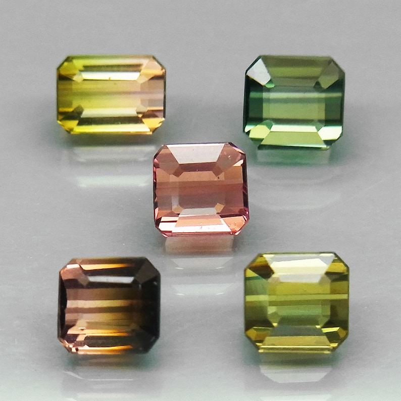 Tourmaline 5x4 MM Oval Natural African Multi Color Cabochon Loose Gemstone AAA Quality Wholesale Lot Ready for Jewelry Setting