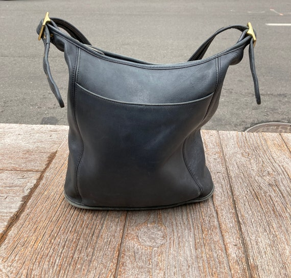Vintage Charcoal Coach Shoulder Bag