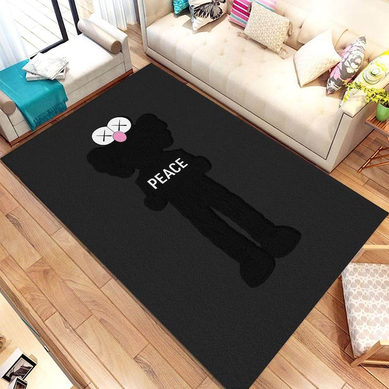 Home Decor Sneakerhead Sneaker Room Fashion Designer Inspired Rug Street Fashion Style Peace Luxury Hype Streetwear Area Rug