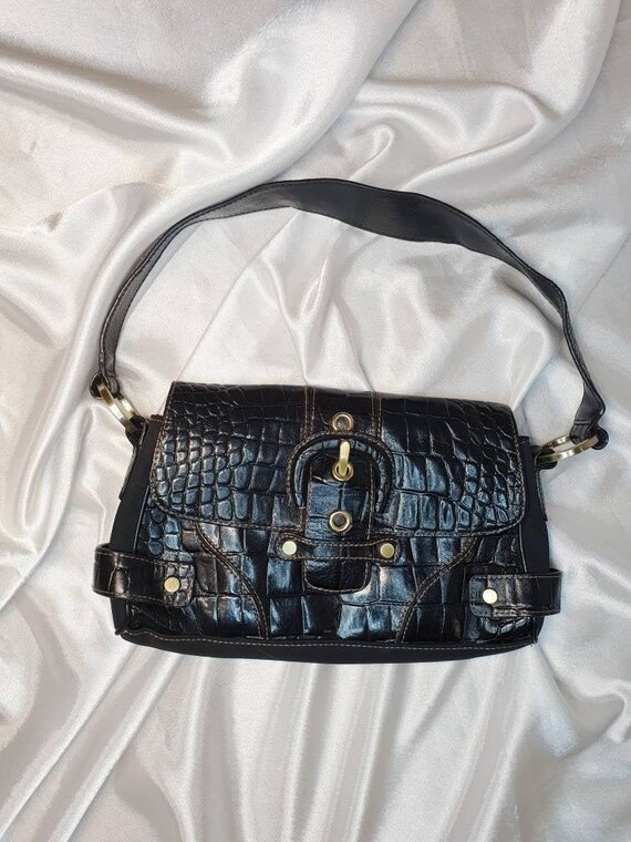 Vintage baguette bag Black shoulder bag