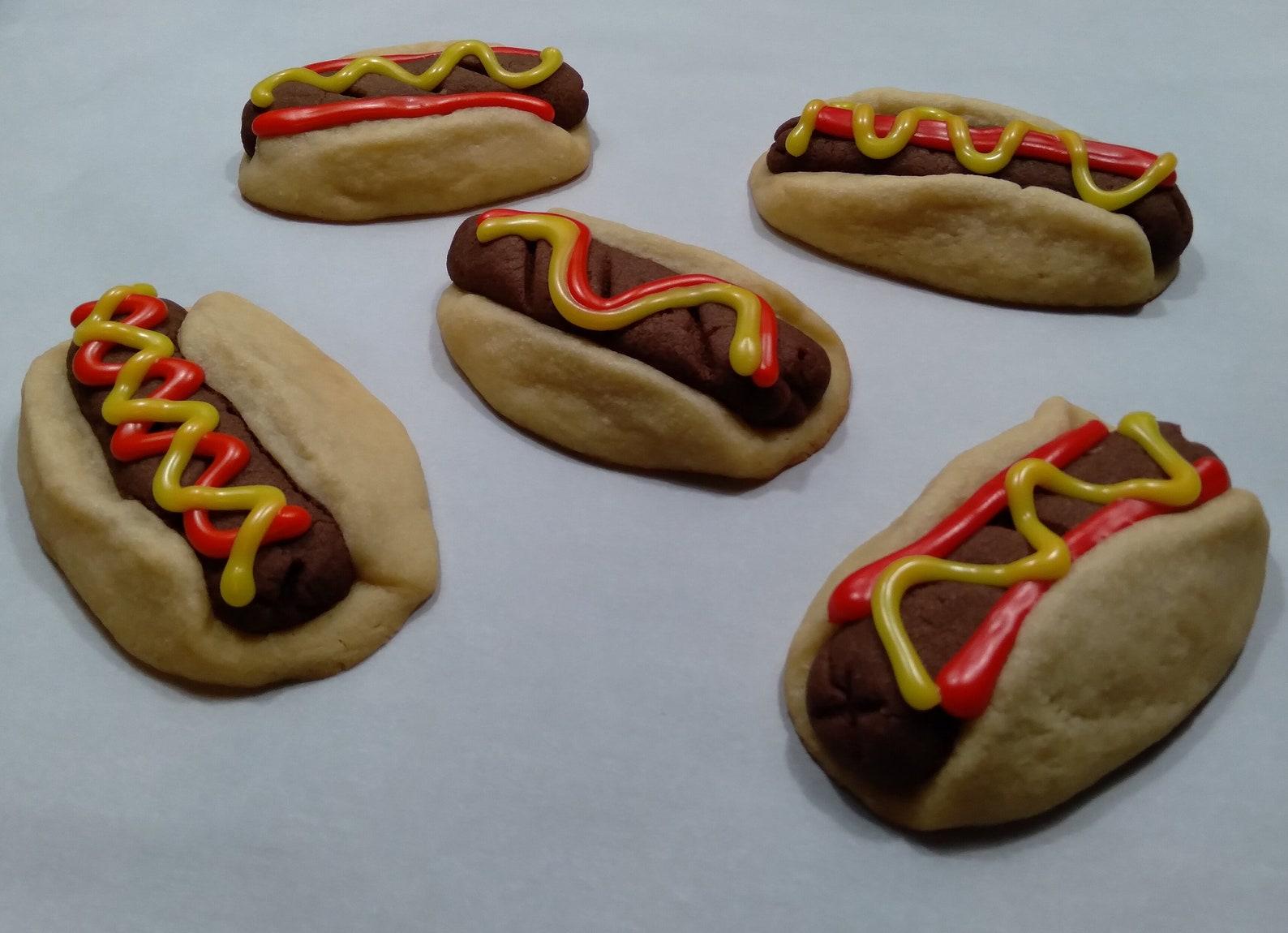 Hot Dog Sugar Cookies