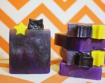 Black Cat Magick: Black Currant Scented Handmade Glycerin Soap - The Halloween Collection
