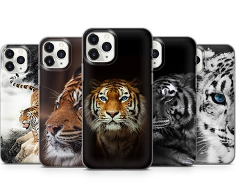 Tiger phone case cover for iPhone, Galaxy S21 S20 S10 S9 S8 Note, Smartphone P10 P20 P30 P40, Personalized gift, Fine art