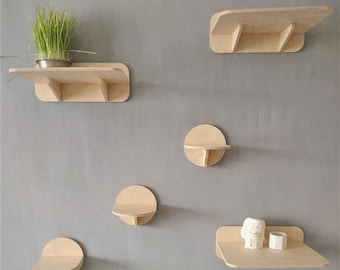 Cat Wall Shelves Set with 3 Steps (size M) and 3 Shelves for playing and napping! Cool Set for Cats for Indoor and Outdoor use