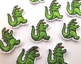 Iron-on patch wildlife ranger crocodile hunter dundee Irwin Steve lacoste polo funny parodie Decalartshop