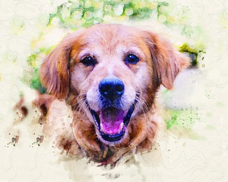 Custom Pet Portrait Watercolor Custom Painting Of DogCat Cat Lover Digital Pet Portrait Personalized Pet Loss Gifts Pet Memorial Gift