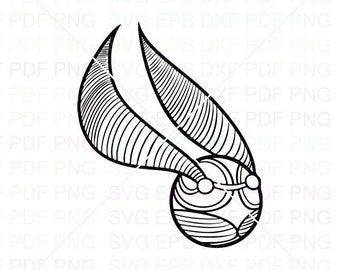Snitch Wings Svg Dxf Eps Pdf Png, Cricut, Cutting file, Vector, Clipart
