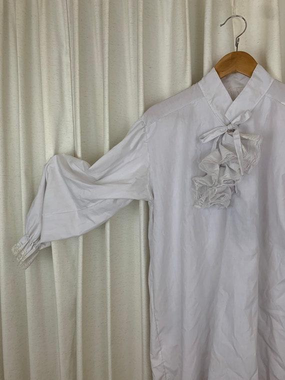 VICTORIAN style LACE & COTTON shirt