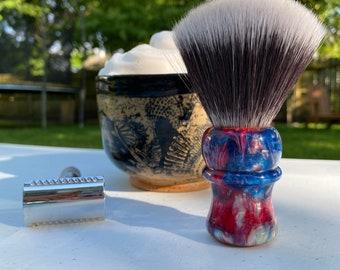 RWB Resin Shaving Brush Handle