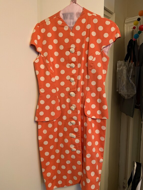 Adele Simpson Vintage Polka Dot Dress