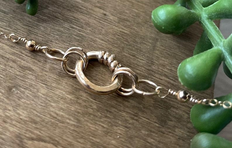 Minimalist Chain Necklace Circle Gold Choker Gold Short Gold Necklace Gold Choker Necklace Dainty Layering Necklace