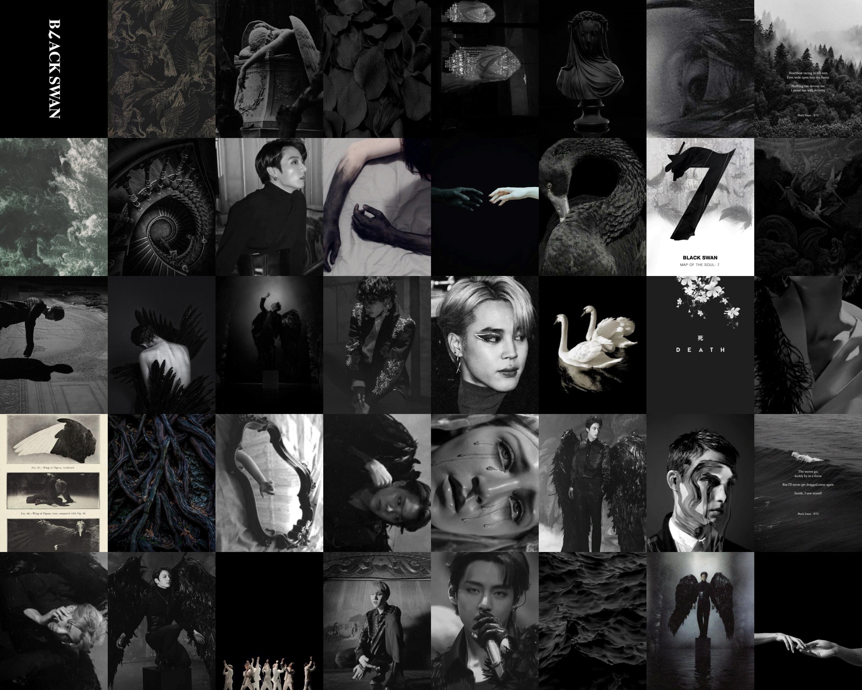 Bts Black Swan Aesthetic Collage Kit Etsy