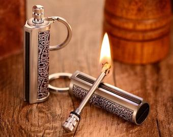 Dragon's Breath Immortal Lighter Permanent Fire Starter Flint Match Keychain