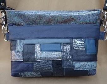Shoulder bag Duo black blue