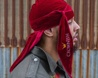 Crushed Candy Apple Red Luxury Velvet Durag