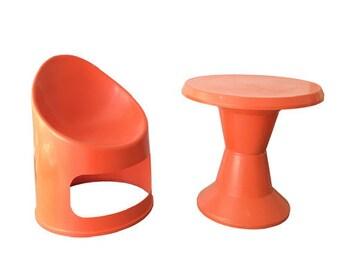 Design Classic SET Children's Chair + Table Giganplast Italy