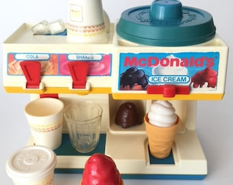 Fisher Price Vintage Softice Machine McDonalds Soda Fountain from 1988