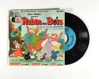 """Vintage LP for Kids 7"""" Robin of Bois Disney"""