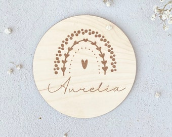 Baby Gift | Name tag for the children's room| Birth shield | Wooden sign | 1 birthday | Christmas gifts | St. Nicholas Gift Godchild
