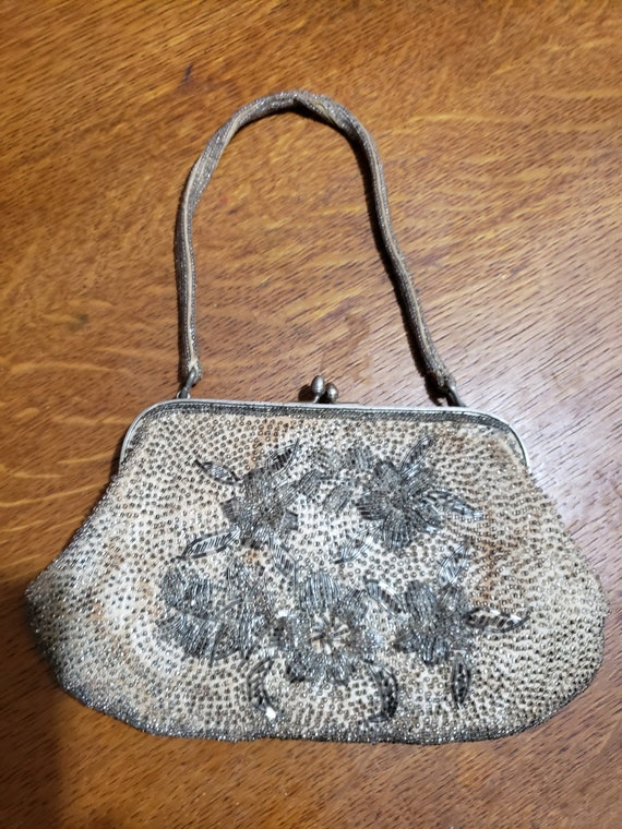 1930s' handmade beaded evening purse