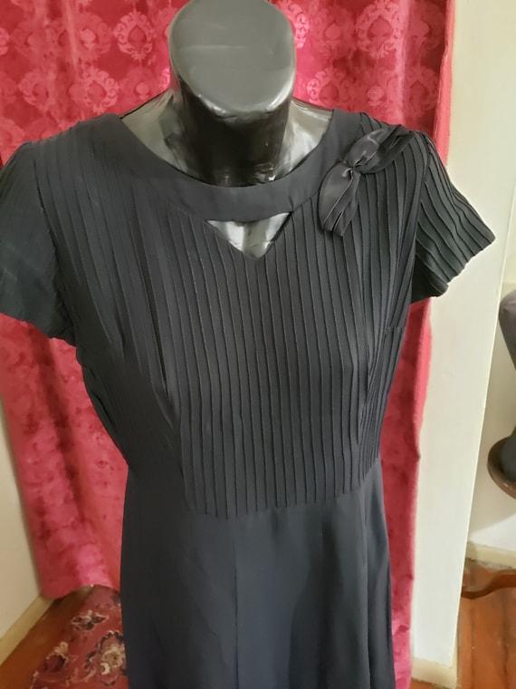 Black 1940's Crepe Rayon
