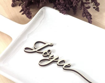 Custom wedding name wood place cards, laser cut, dinner party decor setting, find your table seat, wedding favour, canadian store