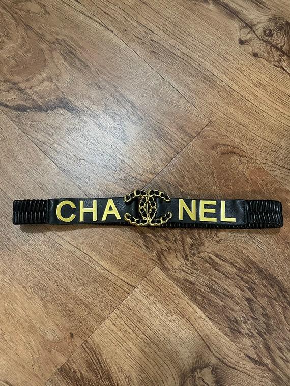 Black chain stretch belt Nwot