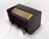 1952 Philco AM FM Bands Radio Restored and Working. FREE Shipping