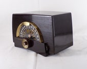 1954 General Electric AM FM Bands Radio Restored and Working. FREE Shipping