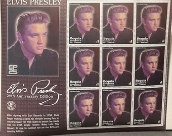 Elvis 25th Anniversary set of postage stamps