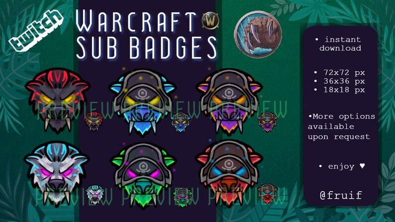 Night Elf Guardian Druid Bear Warcraft Sub Badges Twitch Bearform
