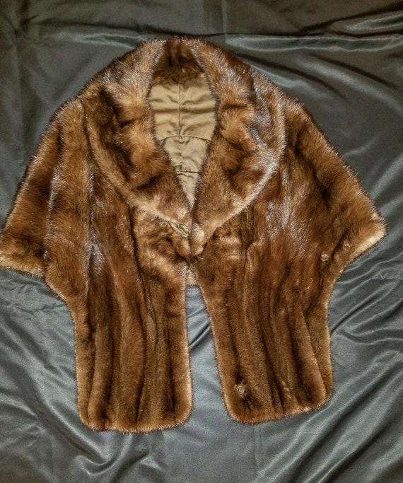 Vintage '50s Mink Fur Stole