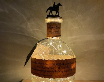 Candy Dish made from a Repurposed BLANTON Bourbon Whiskey Bottle