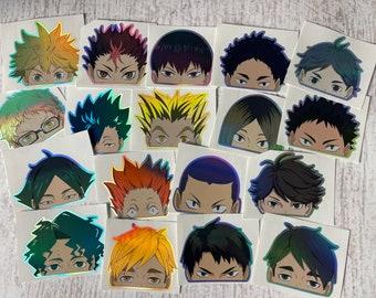 Haikyuu Peeker Sticker || 18 different holographic anime stickers