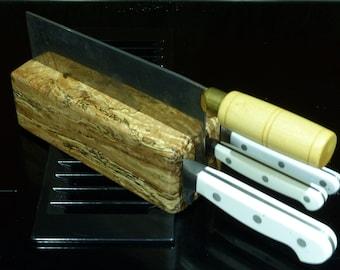 Knife Block - Spalted Hawaiian Monkey Pod Wood