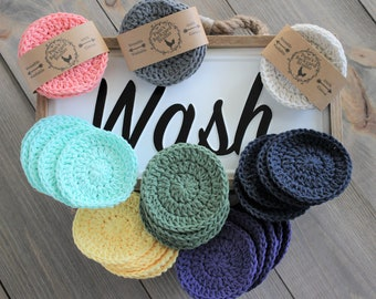 Cotton Face Scrubby, Reusable Face Rounds, Gift for Her, Teen Girl Gift Ideas, Face Rounds, Face Scrubbies