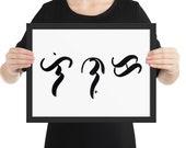 PERSONALISED - your name HANDWRITTEN in BAYBAYIN native Filipino script - printable