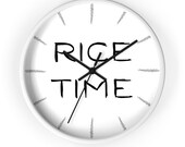 rice time - for rice lovers - filipino gift - asian wall clock