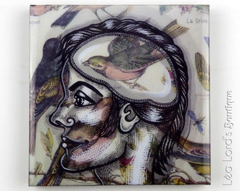 """Graphic work with resin """"Inside Out 30"""""""