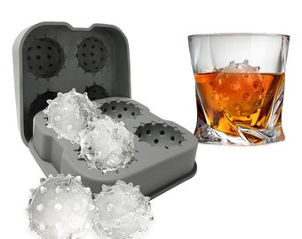 Ice Cube Mold | COVID Ice Cubes | Silicone Sphere Mold | Funny Ice Tray | Gelatin Mold | Novelty Ice Mold | Office Party Decor