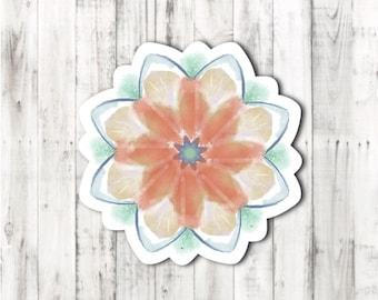 Summer mandala sticker