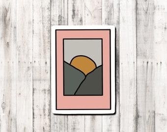 Minimalist Mountain range Polaroid Sticker
