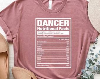 Dancer Nutrition Facts, Dance Shirt, Funny Dancer Shirt, Dancer Gift Tee, Dance Teacher Shirt, Dancing Shirt, Dancing T-Shirt, Dance Lover