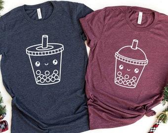 Boba Tea Shirt, Bubble Tea T-Shirt, Boba Tea Couple Shirt, Boba Friends Tee, Boba Tea Best Friends TShirt, Bubble Tea T Shirt